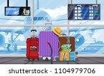 international airport concept.... | Shutterstock .eps vector #1104979706