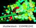 syringe  drug use and... | Shutterstock . vector #1104981242