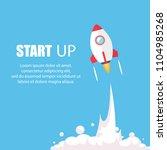 rocket ship in a flat style.... | Shutterstock .eps vector #1104985268