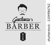 barbershop logo. vintage set... | Shutterstock .eps vector #1104986762