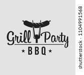 bbq grill party. barbecue set... | Shutterstock .eps vector #1104991568