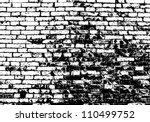 Grunge White And Black Brick...