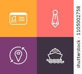 modern  simple vector icon set... | Shutterstock .eps vector #1105002758