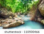stream among rainforest.bali.... | Shutterstock . vector #110500466