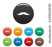 neat mustache icon. simple... | Shutterstock .eps vector #1105010435