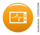 ekg icon. simple illustration... | Shutterstock .eps vector #1105012568