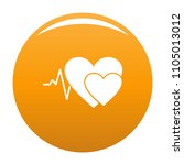 cardiology icon. simple... | Shutterstock .eps vector #1105013012
