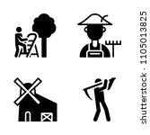 farm icon set. farmland ... | Shutterstock .eps vector #1105013825