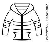 winter jacket icon. outline...   Shutterstock .eps vector #1105015865