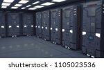 3d render. cloning humanoid... | Shutterstock . vector #1105023536