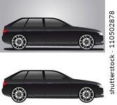 modern black car | Shutterstock .eps vector #110502878