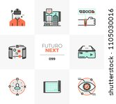 modern flat icons set of... | Shutterstock .eps vector #1105030016