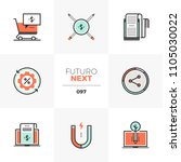 modern flat icons set of... | Shutterstock .eps vector #1105030022