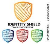 identity shield finger print... | Shutterstock .eps vector #1105030805