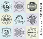 logotypes diy do it yourself... | Shutterstock .eps vector #1105031438