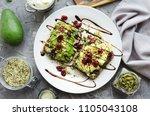 Healthy avocado toasts for...