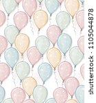 hand drawn balloons vector... | Shutterstock .eps vector #1105044878