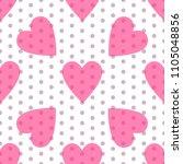 seamless valentine spotty... | Shutterstock .eps vector #1105048856