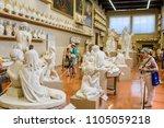 florence  italy   june  3  2018 ...   Shutterstock . vector #1105059218