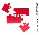 realistic red six pieces of...   Shutterstock . vector #1105070942