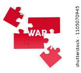 realistic red six pieces of...   Shutterstock . vector #1105070945