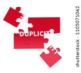 realistic red six pieces of...   Shutterstock . vector #1105071062