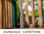 climbing rope jungle gym... | Shutterstock . vector #1105075346