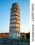 leaning tower of pisa in pisa ... | Shutterstock . vector #1105076855