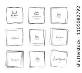hand drawn ink line squares... | Shutterstock .eps vector #1105082792