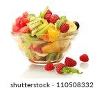 Fresh Fruits Salad In Bowl  An...
