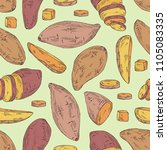 seamless pattern with sweet... | Shutterstock .eps vector #1105083335