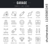 set of outline signs and... | Shutterstock .eps vector #1105085345
