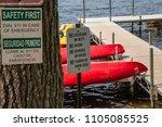 no lifeguard on duty no diving...   Shutterstock . vector #1105085525