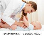 smiling female practitioner...   Shutterstock . vector #1105087532