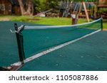 outdoor ping pong table tennis... | Shutterstock . vector #1105087886