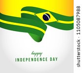 happy brazil independent day... | Shutterstock .eps vector #1105087988