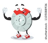cartoon car brake mascot shows... | Shutterstock .eps vector #1105088936