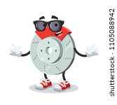 cartoon car brake character... | Shutterstock .eps vector #1105088942