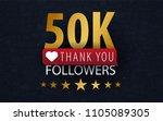 50k followers illustration with ... | Shutterstock .eps vector #1105089305