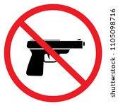 prohibited items firearms ... | Shutterstock .eps vector #1105098716