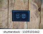 horizontal power outlets plug...   Shutterstock . vector #1105101662