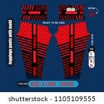 leggings pants fashion vector... | Shutterstock .eps vector #1105109555