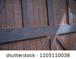close up wood door wall gate...   Shutterstock . vector #1105110038