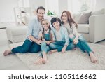 portrait of lovely cheerful... | Shutterstock . vector #1105116662