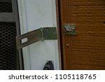 door latch lock close up...   Shutterstock . vector #1105118765