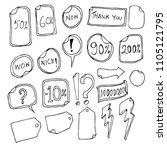 hand drawn sketch doodle vector ... | Shutterstock .eps vector #1105121795