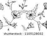 seamless flower pattern... | Shutterstock .eps vector #1105128032