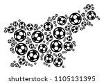 football slovenia map. vector... | Shutterstock .eps vector #1105131395