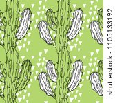 seamless pattern with cactuses. ... | Shutterstock .eps vector #1105133192