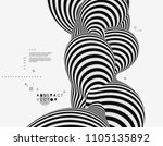 black and white design. pattern ... | Shutterstock .eps vector #1105135892